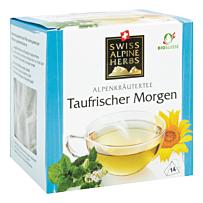 Swiss Alpine Herbs Bio Tee Taufrischer Morgen 14x1g