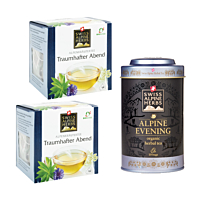 Swiss Alpine Herbs Bio Tee Traumhafter Abend DUO & Teedose