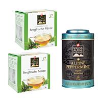 Swiss Alpine Herbs Bio Tee Bergfrische Minze DUO & Teedose