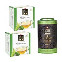 Swiss Alpine Herbs Bio Tee Alpenkräuter DUO & Teedose