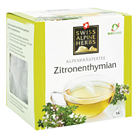 Swiss Alpine Herbs Bio Tee Zitronenthymian 14x1g