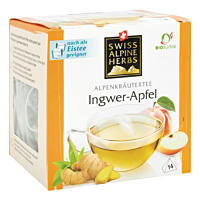 Swiss Alpine Herbs Bio Tee Ingwer-Apfel 14x2g